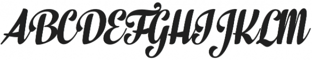 In And Out Bold Italic otf (700) Font UPPERCASE