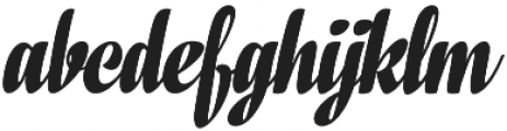 In And Out Bold Italic otf (700) Font LOWERCASE
