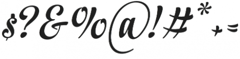 In And Out Regular Italic otf (400) Font OTHER CHARS