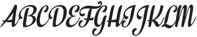 In And Out Regular Italic otf (400) Font UPPERCASE