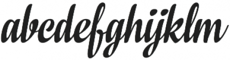 In And Out Regular Italic otf (400) Font LOWERCASE