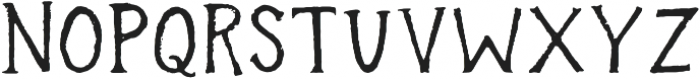 In the wood otf (400) Font LOWERCASE