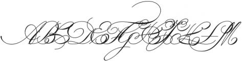 IndentureEnglishPenman otf (400) Font UPPERCASE