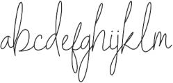 Indesign Signature otf (400) Font LOWERCASE