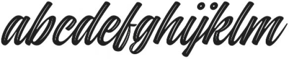 Indie Inline Regular otf (400) Font LOWERCASE