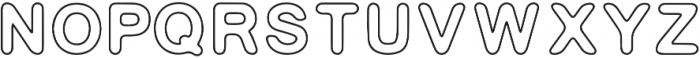 Indie Outline otf (400) Font UPPERCASE