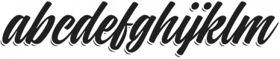 Indie Shade Regular otf (400) Font LOWERCASE