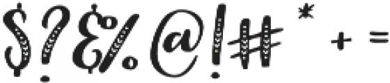 Indigo Summer Serif Solid otf (400) Font OTHER CHARS