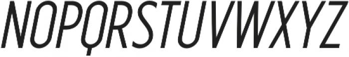 Industrial Sans Bold Oblique otf (700) Font UPPERCASE