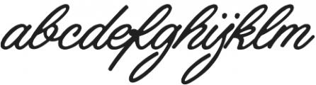 Industries - Script otf (400) Font LOWERCASE