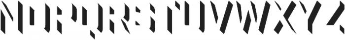 Industry Inc 3D Right otf (400) Font UPPERCASE