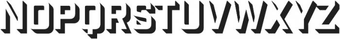 Industry Inc 3D otf (400) Font UPPERCASE