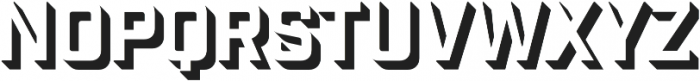 Industry Inc 3D otf (400) Font LOWERCASE
