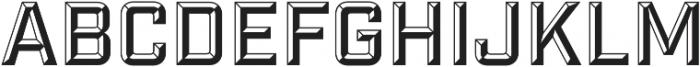 Industry Inc Bevel otf (400) Font UPPERCASE