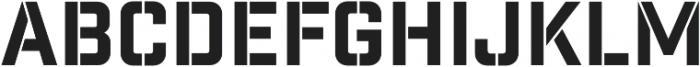 Industry Inc Stencil otf (400) Font UPPERCASE