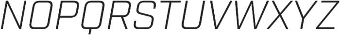 Industry Light Italic otf (300) Font UPPERCASE
