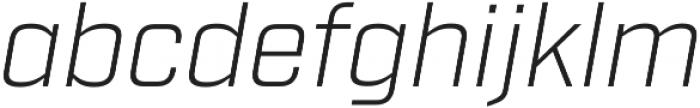 Industry Light Italic otf (300) Font LOWERCASE
