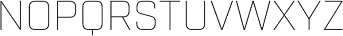 Industry Thin otf (100) Font UPPERCASE