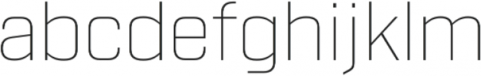 Industry Thin otf (100) Font LOWERCASE