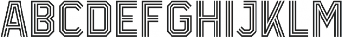 Infield Display otf (400) Font UPPERCASE