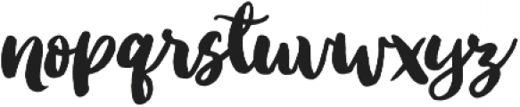Ink Bandits Script otf (400) Font LOWERCASE
