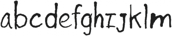 Inkhead Regular otf (400) Font LOWERCASE