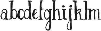 Inkscapade otf (400) Font LOWERCASE