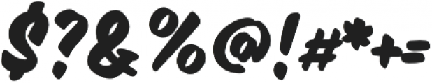 Inkston Casual Bold otf (700) Font OTHER CHARS