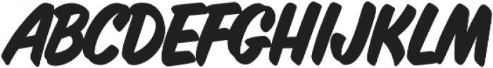 Inkston Casual Bold otf (700) Font UPPERCASE