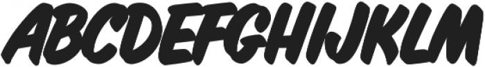 Inkston Casual ExtraBold otf (700) Font UPPERCASE
