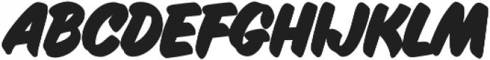 Inkston Casual ExtraBold otf (700) Font LOWERCASE