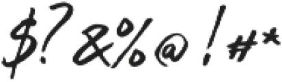 Inky Hand Script Regular otf (400) Font OTHER CHARS