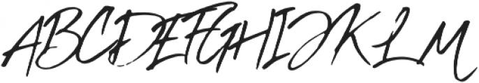 Inky Hand Script Regular otf (400) Font UPPERCASE
