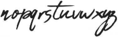 Inky Hand Script Regular otf (400) Font LOWERCASE