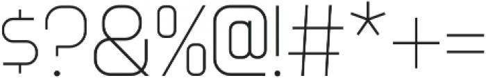 Innova Thin otf (100) Font OTHER CHARS