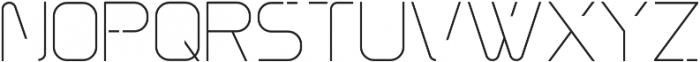 Innova Thin otf (100) Font UPPERCASE