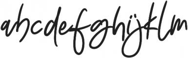 Insatiable Bold otf (700) Font LOWERCASE