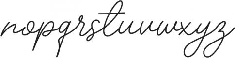 Insta Story Signature otf (400) Font LOWERCASE