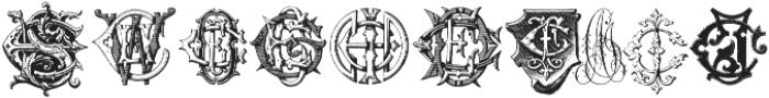 Intellecta Monograms CA FI ttf (400) Font OTHER CHARS