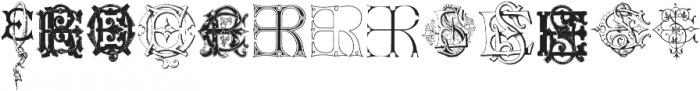 Intellecta Monograms CA FI ttf (400) Font UPPERCASE