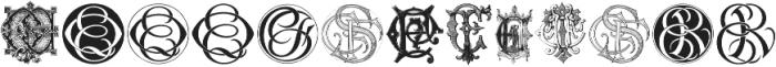 Intellecta Monograms CA FI ttf (400) Font LOWERCASE
