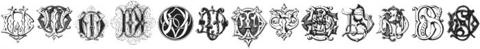 Intellecta Monograms CC EP ttf (400) Font UPPERCASE