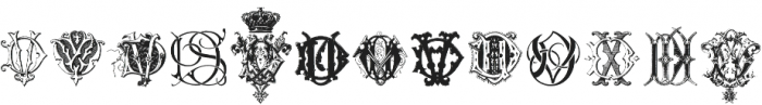 Intellecta Monograms CC EP ttf (400) Font LOWERCASE