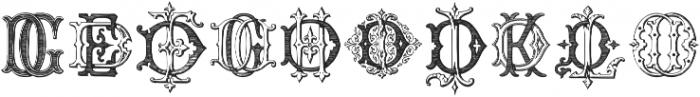 Intellecta Monograms DDDP Regular ttf (400) Font OTHER CHARS