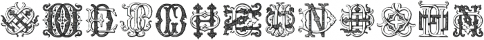 Intellecta Monograms DDDP Regular ttf (400) Font UPPERCASE