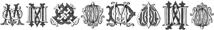 Intellecta Monograms DDDP Regular ttf (400) Font LOWERCASE