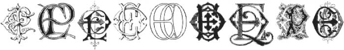 Intellecta Monograms EAEZ ttf (400) Font OTHER CHARS