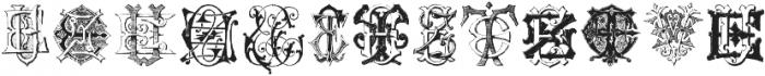 Intellecta Monograms EAEZ ttf (400) Font UPPERCASE