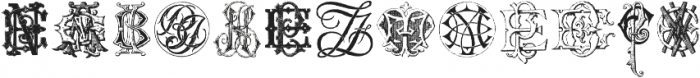 Intellecta Monograms EAEZ ttf (400) Font LOWERCASE