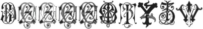 Intellecta Monograms Soft YOYZ ttf (400) Font OTHER CHARS